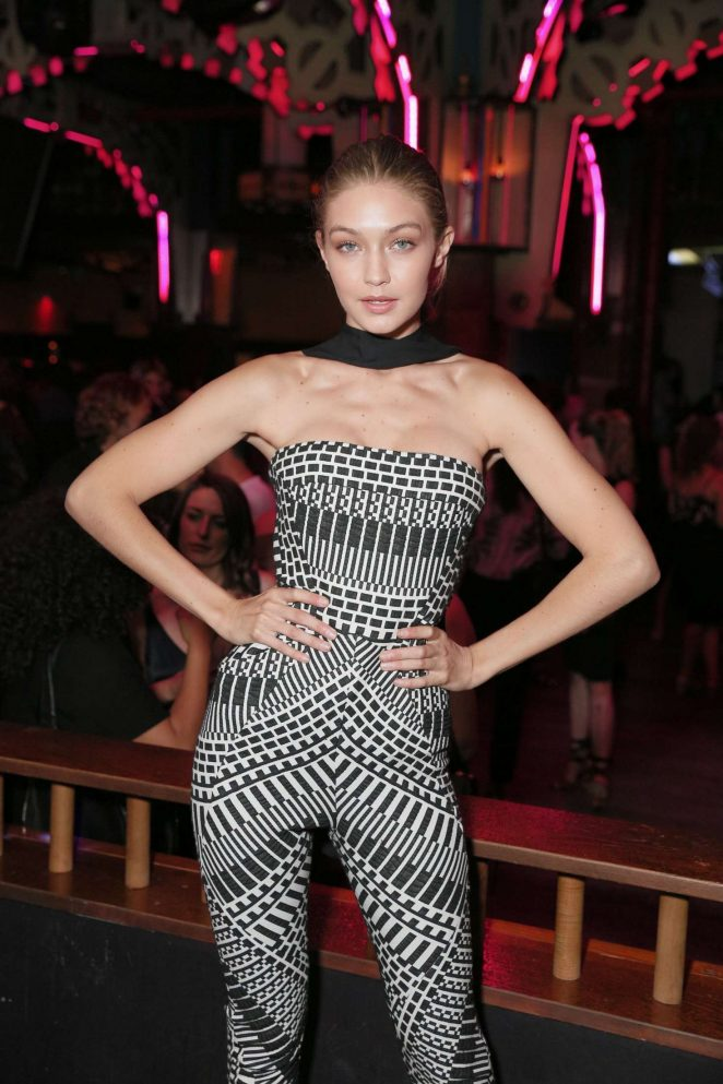 Gigi Hadid wears clinging catsuit at V Magazine event in NY