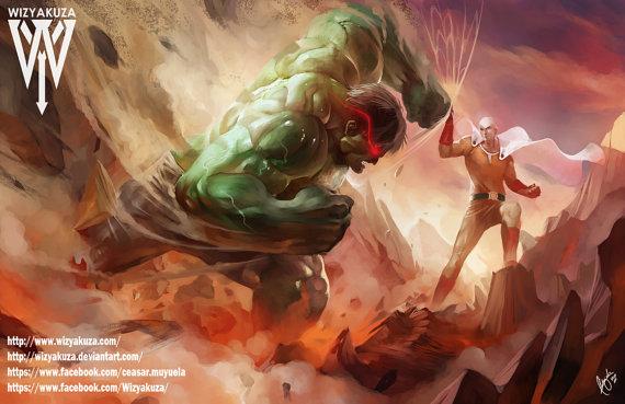 saitama melawan superhero marvel