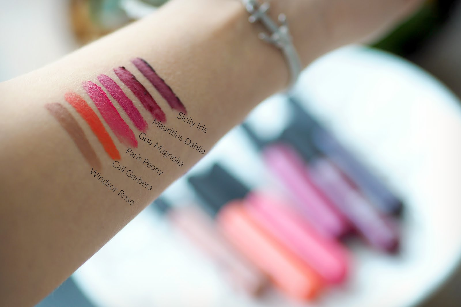 the body shop matte lip liquid swatches