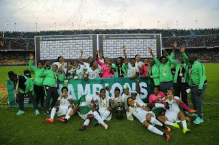 Super Falcons' players, officials paid as Govt releases funds, Nigeria football, Africa women football 2016 champions, Alonge Akinlolu