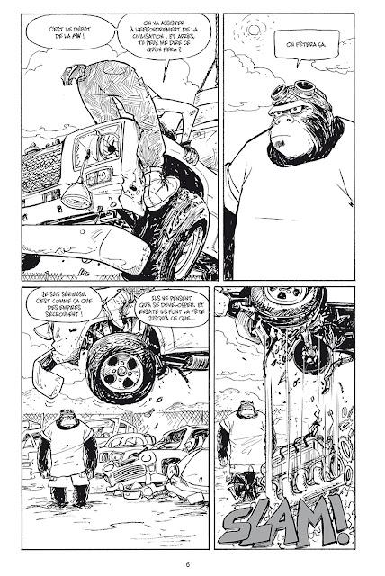 "page ""MOTOR GIRL"" de Terry Moore chez Delcourt"