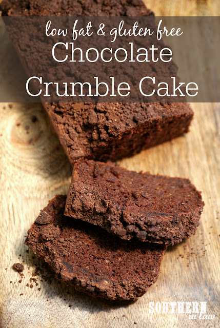 Healthy Chocolate Crumble Cake Recipe - low fat, gluten free, healthy, low sugar, clean eating, refined sugar free, healthy cake recipes