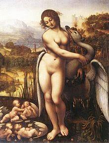 Leda e o Cisne - Leonardo Da Vinci | O maior artista de todos os tempos