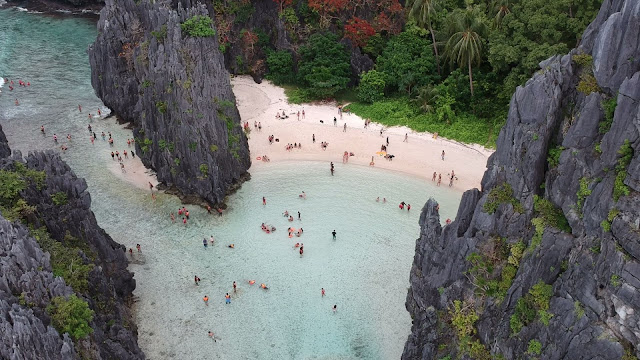 hidden beach el nido palawan philippines