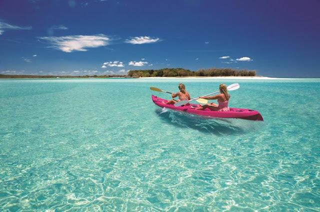 Fraser Island playa repleta de tiburones arañas y medusas