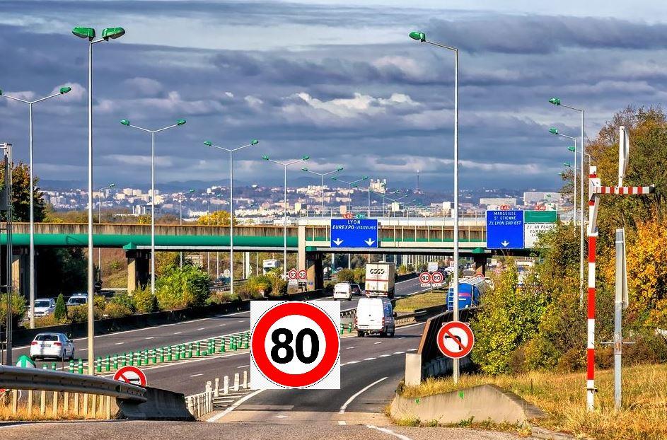 Limitation 80km/h à Lyon