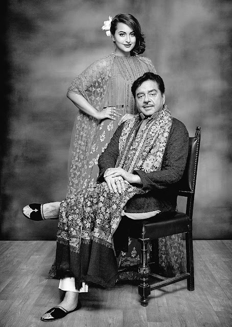Photoshoot: Sonakshi Sinha with Father Shatrughan Sinha