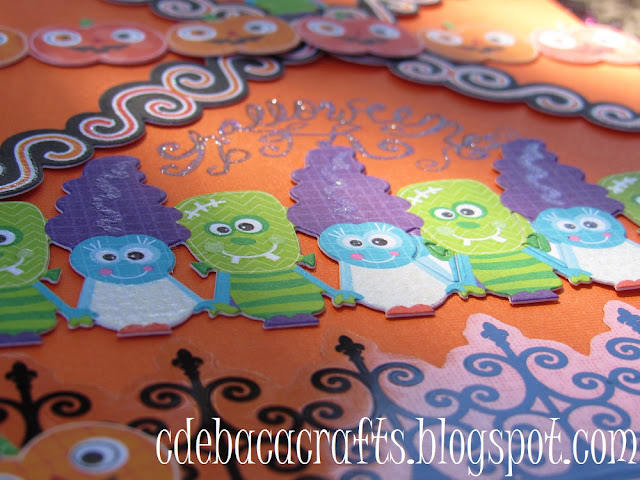 Handmade halloween card by CdeBaca Crafts blogspot.