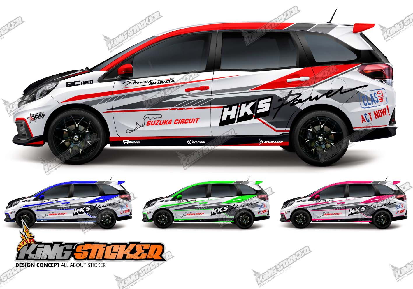 Cutting Sticker Honda Mobilio Putih Satu Sticker