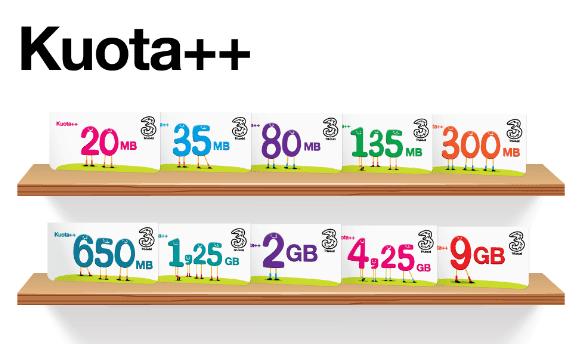 Paket Internet Tri Menawarkan Data Besar Dan Murah