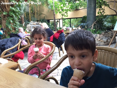 Eating ice cream at Center Parcs Erperheide