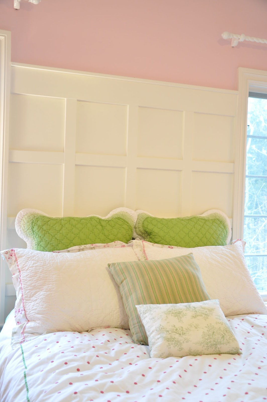 A Pretty Paneled Headboard Wall - Evolution of Style