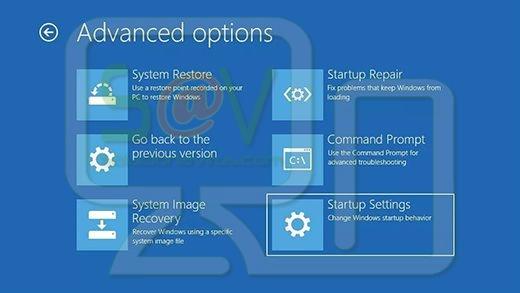 Configuración de inicio de Windows