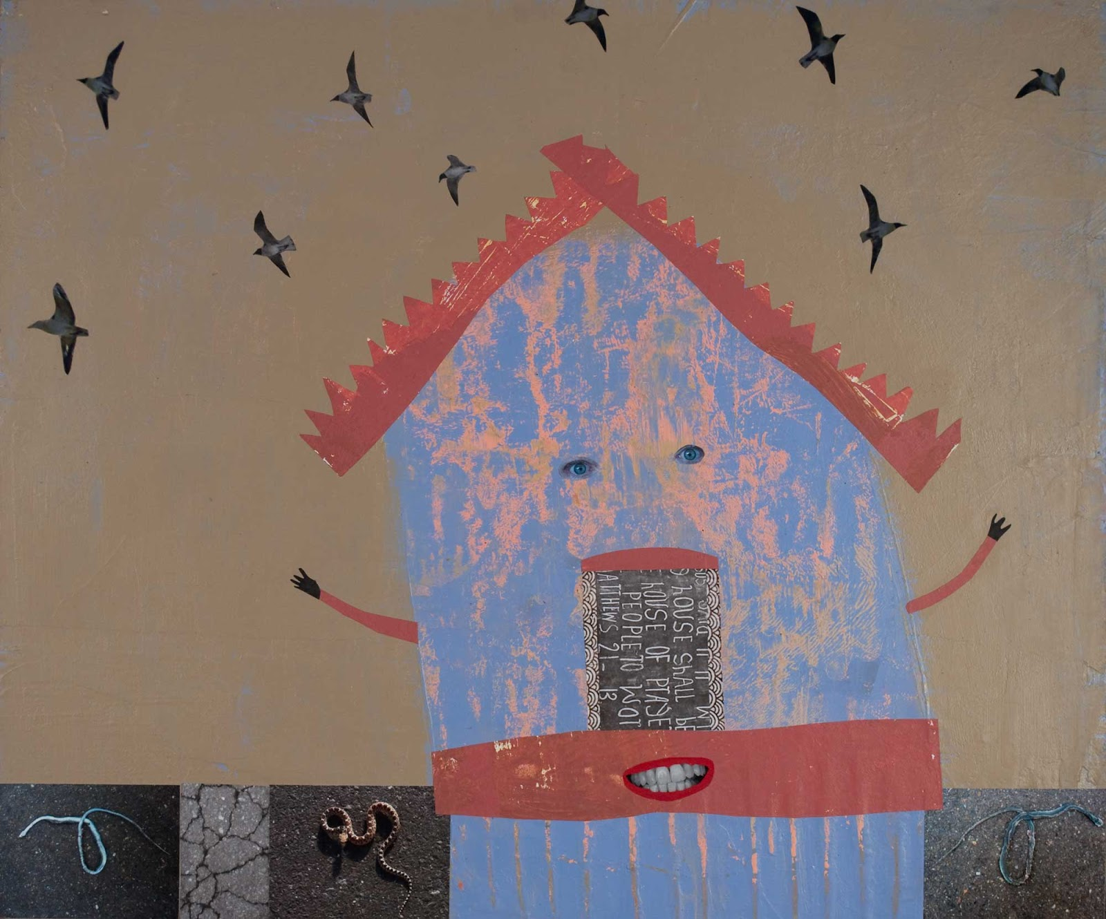 holly roberts one painting at a time: blue house 2016