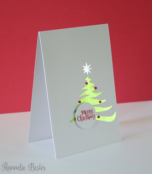 foiled Christmas tree card