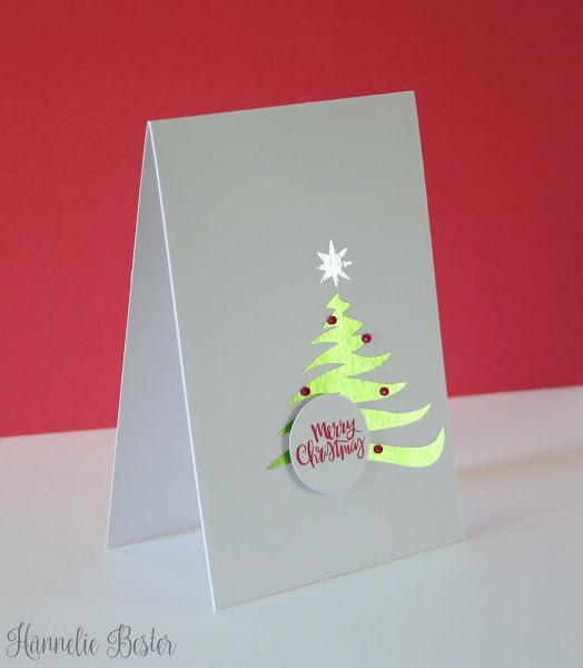foiled Christmas tree card