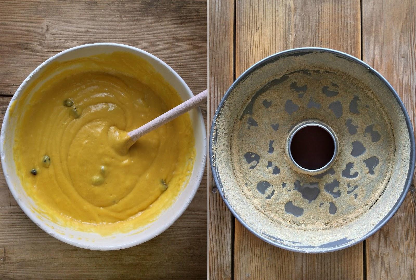 ricetta torta al kamut con gianduia fondente e mirtilli rossi