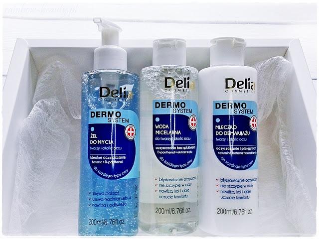 dermo-system-delia-zel-do-mycia-twarzy-blog-opinie-woda-micelarna-mleczko-do-demakijazu