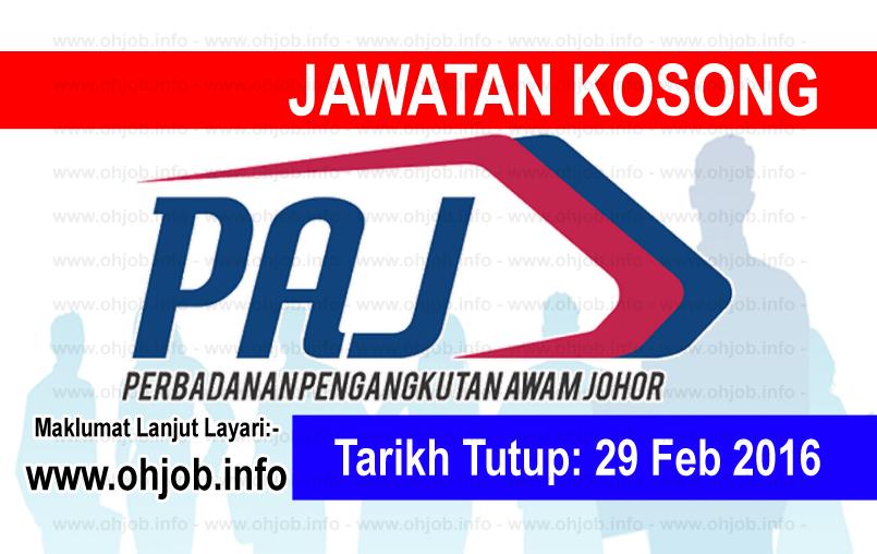 Jawatan Kerja Kosong Perbadanan Pengangkutan Awam Johor (PAJ) logo www.ohjob.info februari 2016
