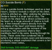 naruto castle defense 6.0 Deidara CO.Suicide Bomb detail
