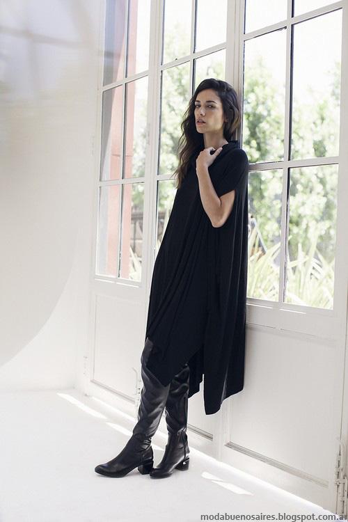 Vestidos y jeans invierno 2016 Ossira moda mujer.