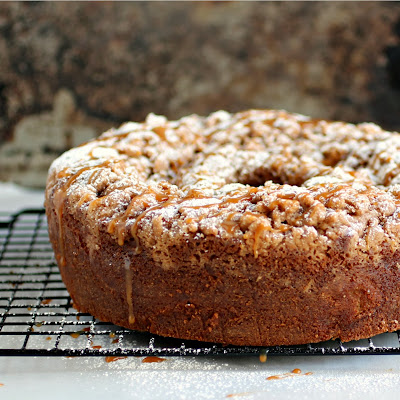 Caramel Apple Sour Cream Coffee Cake