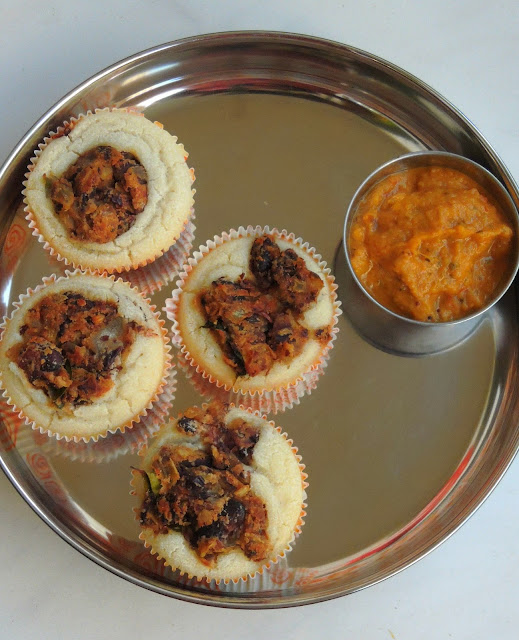 Dosa Muffins with Rajma Masala