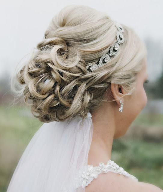 braided updo bridal hairstyle