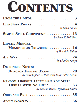 Let's GURPS: Review: Pyramid #3/113 Dungeon Fantasies