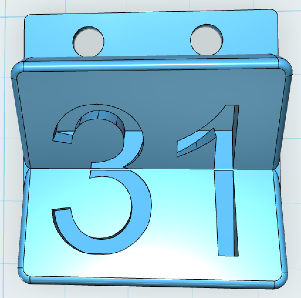 Calendar Logo : Maker club google calendar d printed logo