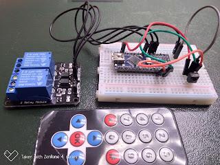 Projekt Arduino : an / ausschalten  2 Kanal Haushaltsgeräte