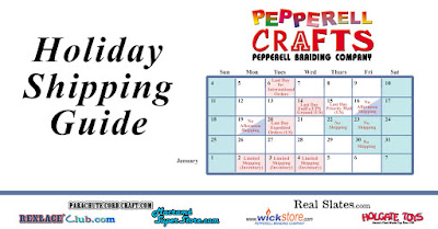 Pepperell Braiding Company Holiday Shipping Schedule 2016