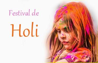 Niña festejando el festival de holi