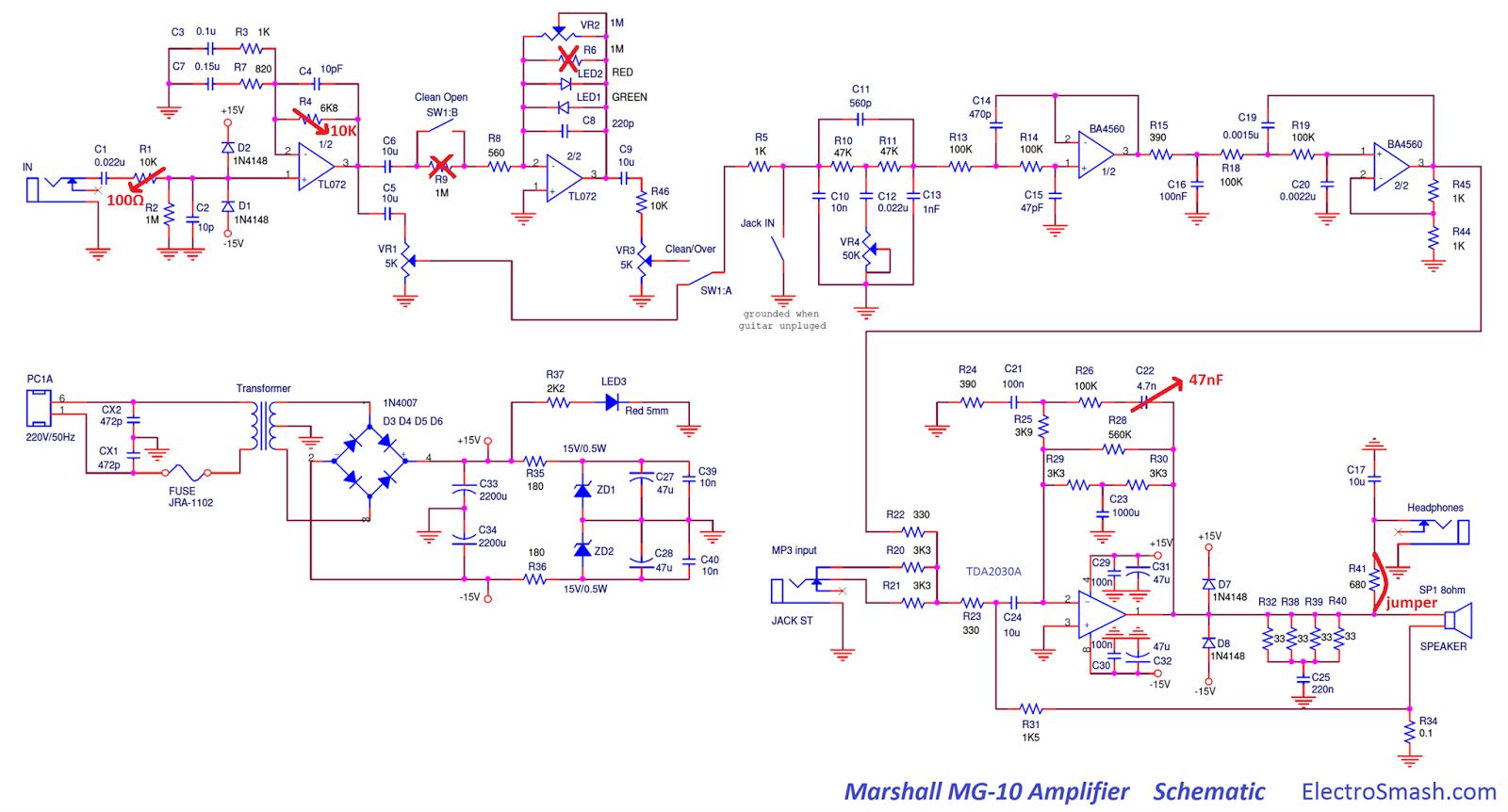 marshall mg10 modification guitar dreamer marshall mg cfx the amp sounds like a proper amplifier head unit via the 2x12\