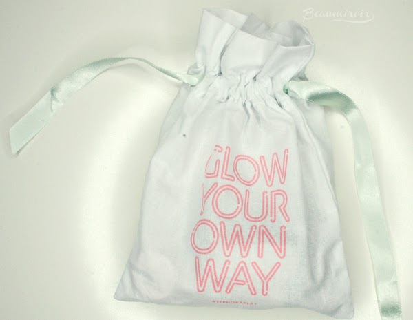 canvas drawstring bag with ribbons