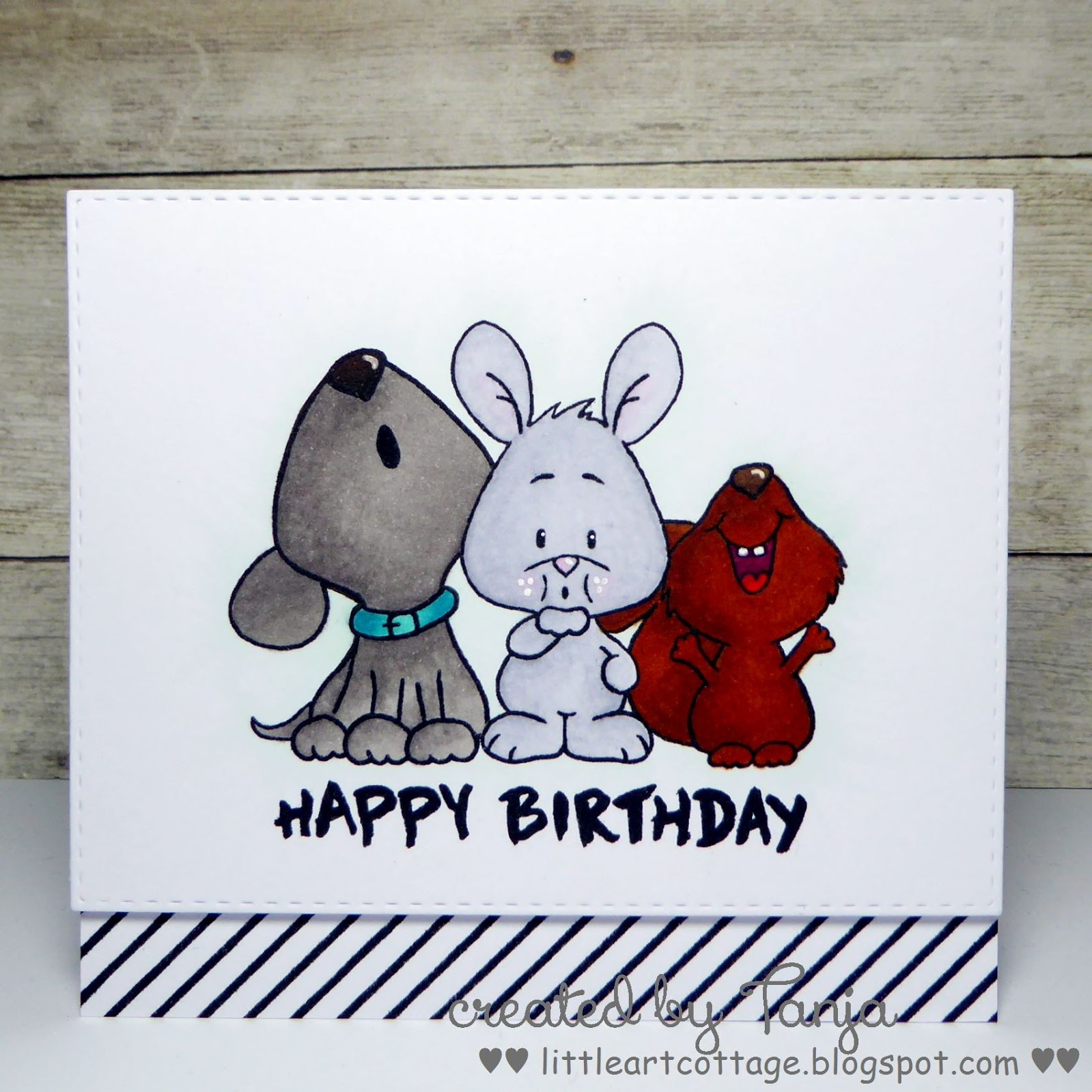 Little Art Cottage Happy Birthday Critters