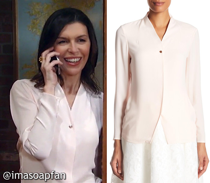 Alex Marick, Finola Hughes, Light Pink Blouse, Ted Baker, GH, General Hospital, Season 55, Episode 05/11/17