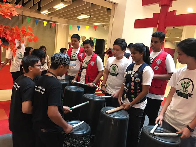 Eco-drumming workshop and performance by Eco Schools.