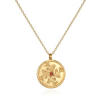 January Birthstone Pendant with Carnation - Satya Jewelry - Jewellery Blog
