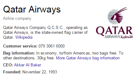 Qatar Airways customer care number
