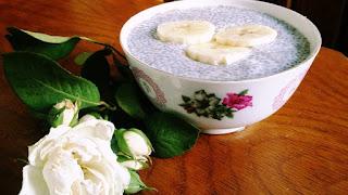 Budinca din seminte de chia si lapte de cocos