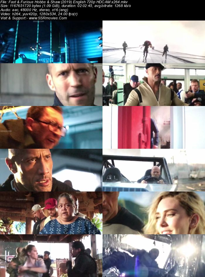 Fast and Furious: Hobbs & Shaw (2019) English 720p HDCAM x264 1.1GB Movie Download
