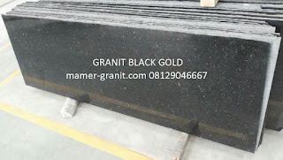 Jual granit black gold slabs