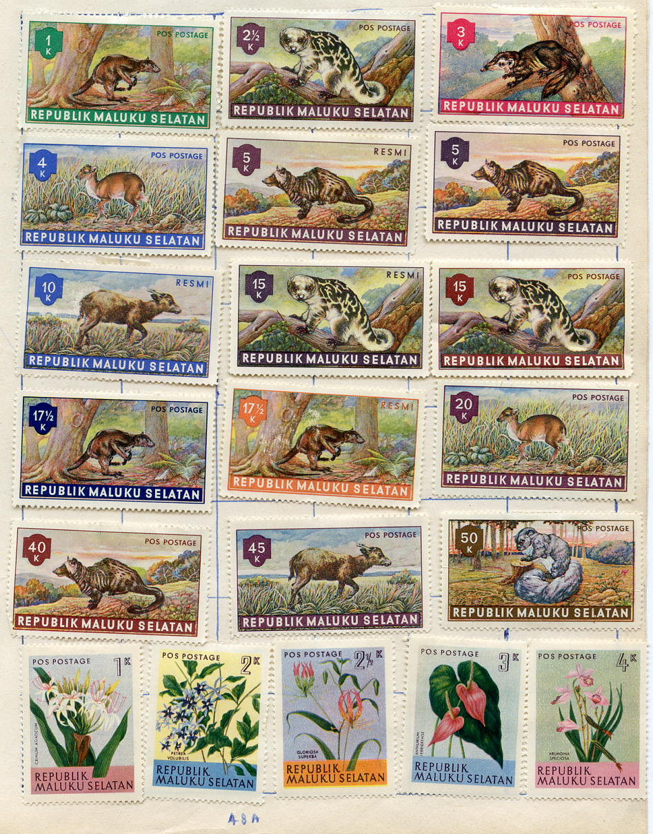 Postage Stamps: Republik Maluku Selatan issued by government in exile