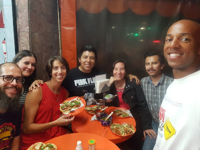 Ainhoa's Mexican crew and our dinner buddies