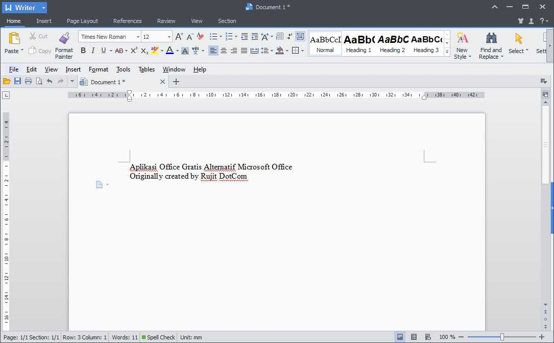 Kingsoft Office, freeware alternatif untuk menggantikan Microsoft Office