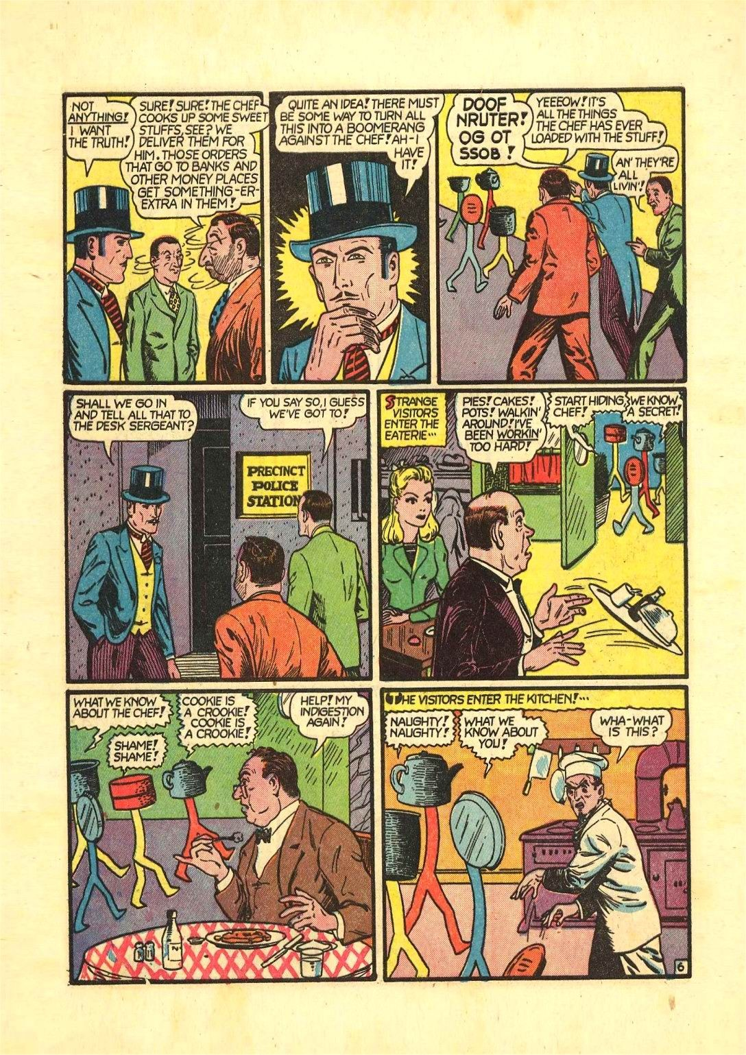 Read online Action Comics (1938) comic -  Issue #54 - 61