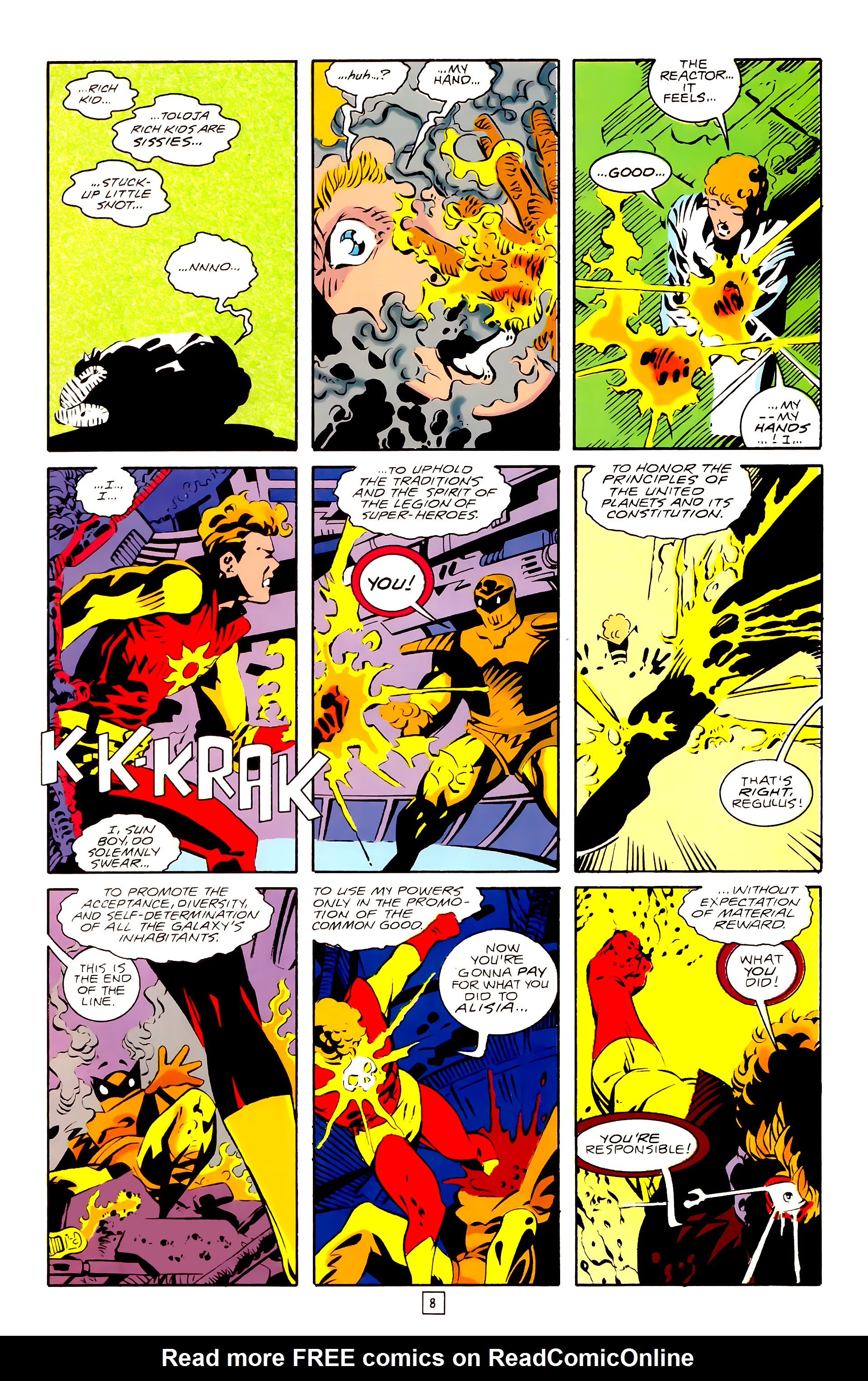 Legion of Super-Heroes (1989) 28 Page 8