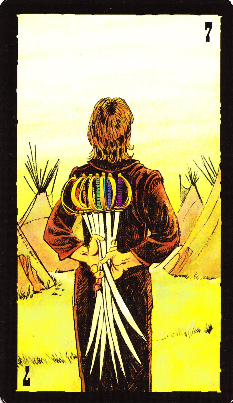 Rowan Tarot December 2012: Rowan Tarot: Prairie Tarot--7 Of Swords