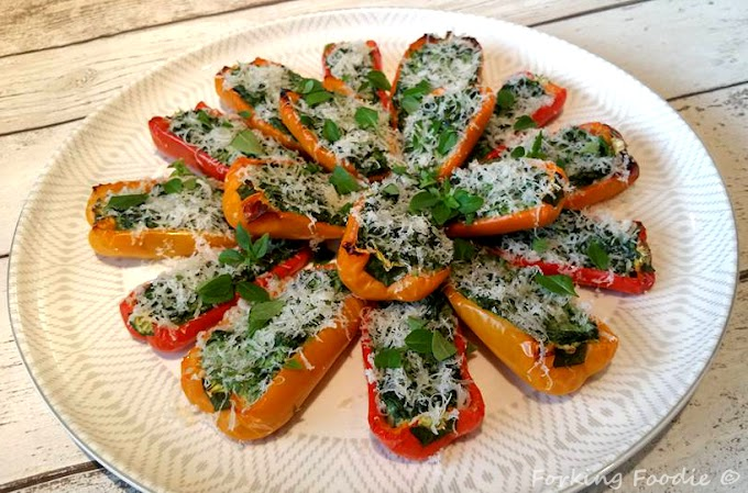 Stuffed Baby Peppers with Spinach and Ricotta